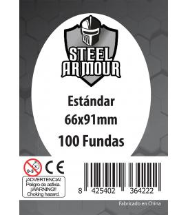 Fundas Steel Armour (63,5x88mm) Estándar (100) - Exterior 66x91mm