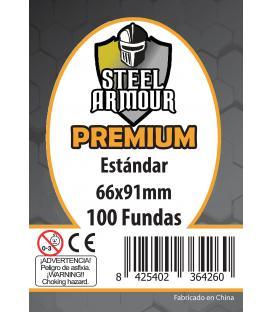 Fundas Steel Armour (63,5x88mm) PREMIUM Standard (100) - Exterior 66x91mm