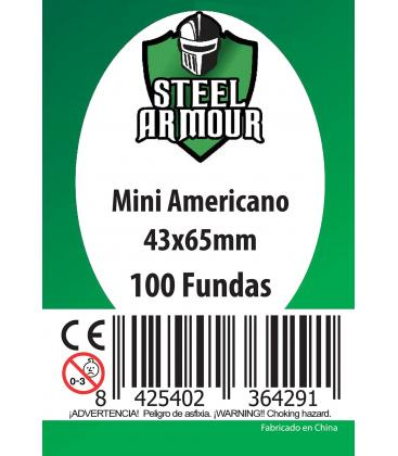 Fundas Steel Armour (41x63mm) Mini Americano (100) - Exterior 43x65mm