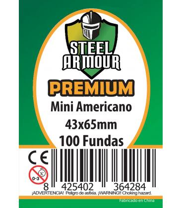Fundas Steel Armour (41x63mm) PREMIUM Mini Americano (100) - Exterior 43x65mm