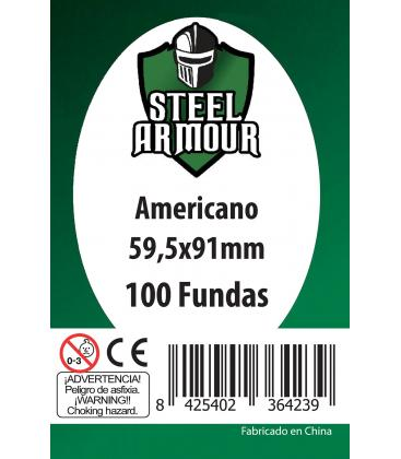 Fundas Steel Armour (57,5x89mm) Americano (100) - Exterior 59,5x91mm