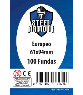 Fundas Steel Armour (59x92mm) Europeo (100) - Exterior 61x94mm