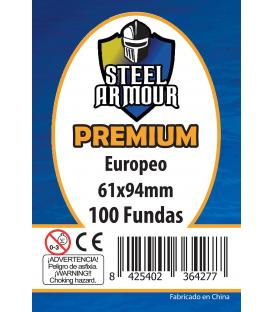 Fundas Steel Armour (59x92mm) Europeo PREMIUM (100) - Exterior 61x94mm