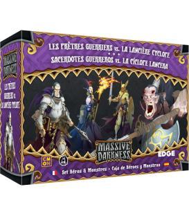 Massive Darkness: Sacerdotes Guerreros vs. la Cíclope Lancera