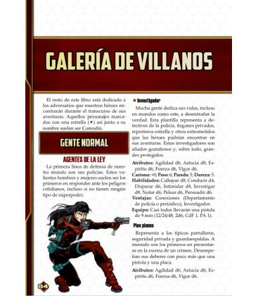 Savage Worlds: Guía de Género Superpoderes