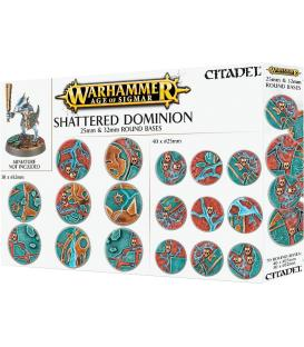 Warhammer Age of Sigmar: Peanas Redondas Shattered Dominion 25 & 32 mm.