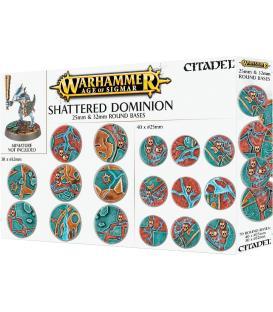 Warhammer Age of Sigmar: Peanas Redondas Shattered Dominion 25 & 32 mm.