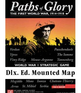 Paths of Glory: The First World War, 1914-1918 - Mounted Map (Inglés)