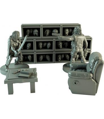 The Walking Dead: Sala de Trofeos del Gobernador (Diorama de Resina)