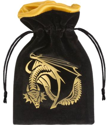Bolsa Q-Workshop - Dragon (Black & Golden Velour)