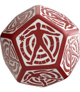 Q-Workshop: D12 Hit Location Dice (Rojo/Blanco)