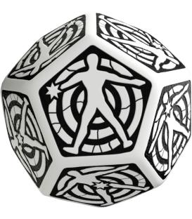 Q-Workshop: D12 Hit Location Dice (Blanco/Negro)