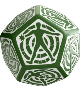 Q-Workshop: D12 Hit Location Dice (Verde/Blanco)