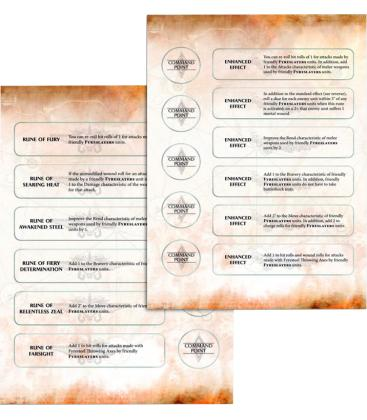 Warhammer Age of Sigmar: Fyreslayers (Warscroll Cards)