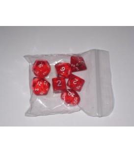 Bolsa 7 Dados: Gema Rojo