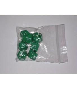 Bolsa 7 Dados: Opaco Verde