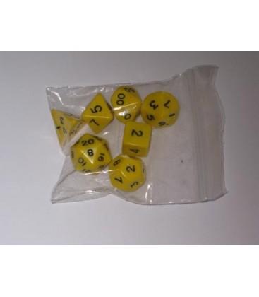 Bolsa 7 Dados: Opaco Amarillo