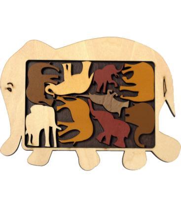 Puzzle Elefantes / Elephant Parade