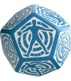 Q-Workshop: D12 Hit Location Dice (Azul/Blanco)