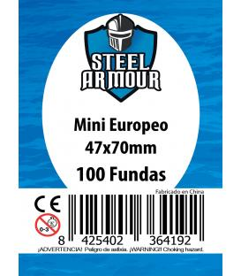 Fundas Steel Armour (45x68mm) Mini Euro (100) - Exterior 47x70mm