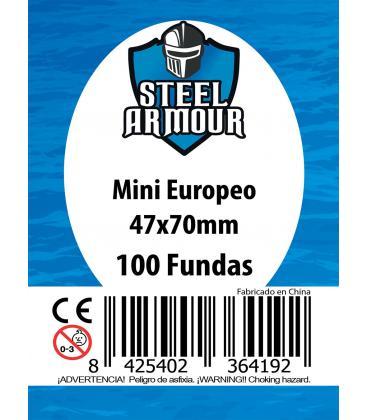 Fundas Steel Armour (45x68mm) Mini Americano (100) - Exterior 47x70mm