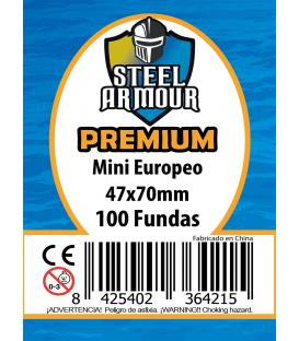 Fundas Steel Armour (45x68mm) PREMIUM Mini Europeo (100) - Exterior 47x70mm