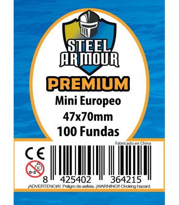 Fundas Steel Armour (45x68mm) PREMIUM Mini Europeo (100) - Exterior 45x68mm