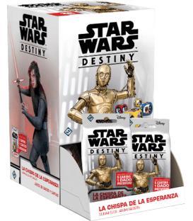 Star Wars Destiny: La Chispa de la Esperanza (Expositor con 36 Sobres de Ampliación)