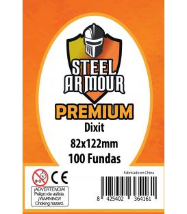 Fundas Steel Armour PREMIUM (80x120mm) Dixit (100) - Exterior 82x122mm