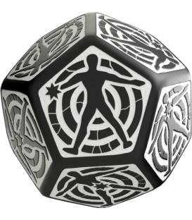 Q-Workshop: D12 Hit Location Dice (Negro/Blanco)
