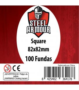 Fundas Steel Armour (80x80mm) Estándar (100) - Exterior 82x82mm