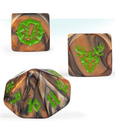 Blood Bowl: Wood Elf Team (Dice Set)