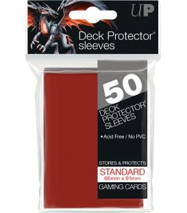 50 Fundas Ultra Pro (66x91mm) Deck Protector - Rojo