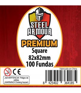 Fundas Steel Armour (80x80mm) PREMIUM Square (100) - Exterior 82x82mm