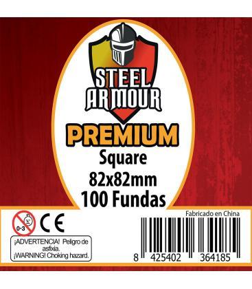 Fundas Steel Armour (80x80mm) PREMIUM Square (100) - Exterior 82x82mm