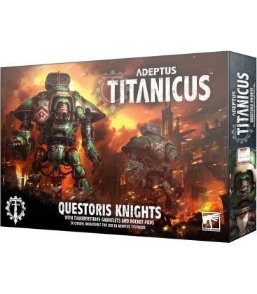 Adeptus Titanicus: Questoris Knights with Thunderstrike Gauntlets and Rocket Pods (Inglés)