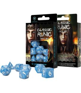 Q-Workshop: Classic Runic Dice Set (Glacier & White)