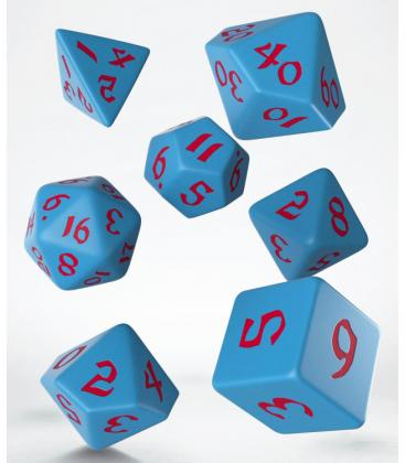 Q-Workshop: Classic Runic Dice Set (Blue & Red)