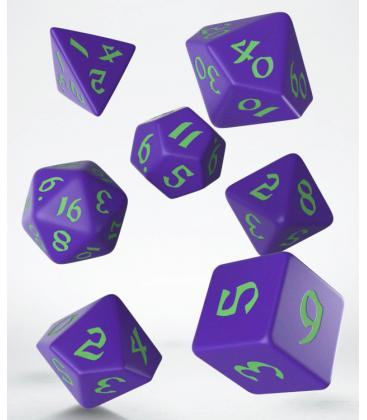 Q-Workshop: Classic Runic Dice Set (Purple & Green)