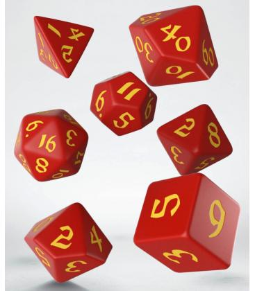 Q-Workshop: Classic Runic Dice Set (Red & Yellow)
