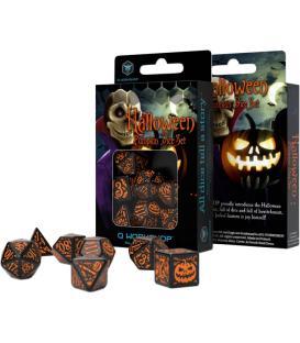 Q-Workshop: Halloween Pumpkin Dice Set (Black & Orange)