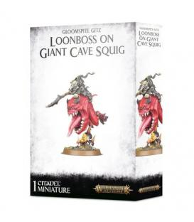 Warhammer Age of Sigmar: Gloomspite Gitz Loonboss on Giant Cave Squig