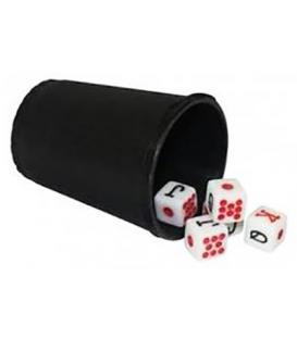 Set de Poker (Cubilete + 5 Dados)