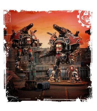 Adeptus Titanicus: Warbringer Nemesis Titan with Quake Cannon, Volcano Cannon and Laser Blaster