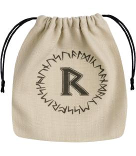 Bolsa Q-Workshop - Runic (Beige & Black)