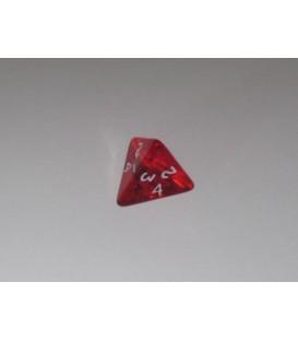 Dado Gema 4 Caras - Rojo