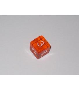 Dado Gema 6 Caras - Naranja