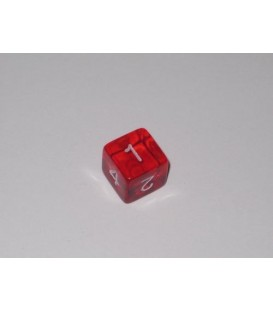 Dado Gema 6 Caras - Rojo