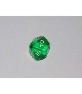 Dado Gema 10 Caras - Verde (decenas)