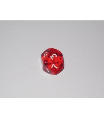 Dado Gema 10 Caras - Rojo (unidades)